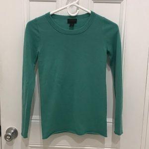 J. Crew Green Cashmere Sweater Size XXS